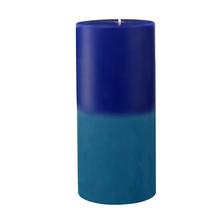 Ocean Medium Two Tone Wax Candle - @home by Nilkamal, Indigo