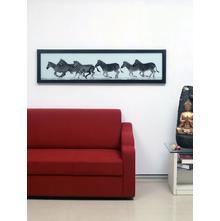 Running Zebras Painting, Black & White