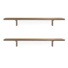 Romantic & Juan Big Wall Shelf Set of 2 - @home by Nilkamal, Walnut