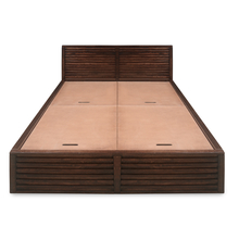 Rigato King Bed with Storage, Walnut