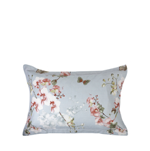 Floral 46 cm x 69 cm Pillow Cover Set of 2 - @home by Nilkamal, Sea Green