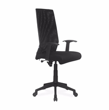 Nilkamal Thames High Back Mesh Office Chair, Black