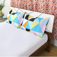 Tresmo 46 x 69 cm Pillow Cover Set of 2 - @home by Nilkamal, Multicolor