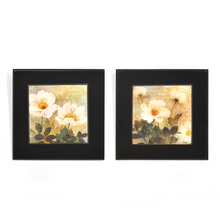 Floral Embossed Set of 2 Painting - @home by Nilkamal, Yellow