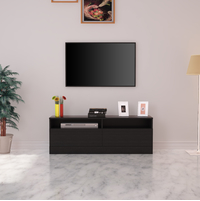 Muse Low Height Wall Unit - @home by Nilkamal, Black Oak