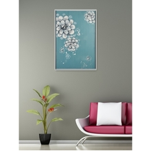 Budding Autumn Picture Painting 60 x 90 - @home By Nilkamal, Blue & Peach