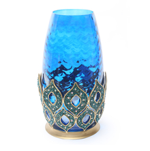 Peacock ink Large Vase - @home by Nilkamal, Indigo