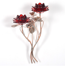 Wall 2 Pieces Votive Stand - @home by Nilkamal, Maroon