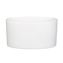Oval Ceramic Napkin Holder - @home by Nilkamal, White