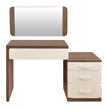 Ozone Dresser With Miror - @home Nilkamal,  white with walnut