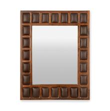 Buddha Wall Mirror - @home by Nilkamal, Dark Walnut