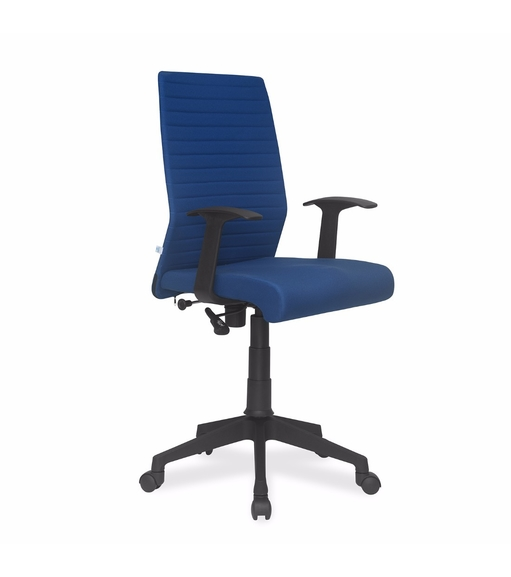 Nilkamal Thames Medium Back Fabric Office Chair, Blue