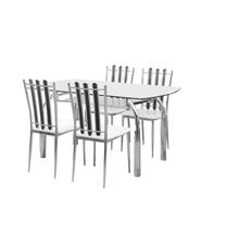 Nilkamal Chrysanta 4 Seater Dining Set, Walnut