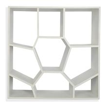 Honeycomb Wall Shelf - @home By Nilkamal, White