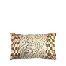 Geo 30 cm x 45 cm Filled Cushion - @home by Nilkamal, Brown