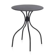 Nilkamal Alfredo Round Table, Black