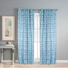 Digi Diamond 112 cm x 274 cm XL Door Curtain Set of 2 -@home by Nilkamal, Seagreen