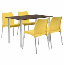 Napoli 4 Seater Dining Kit - @home by Nilkamal, Yellow