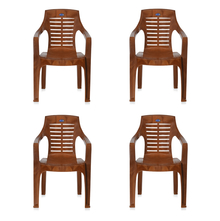Nilkamal CHR6020 Chair Set of 4 - Pear Wood