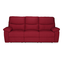 Midas 3 Seater Sofa with 2 Manual Recliner, Merlot Red
