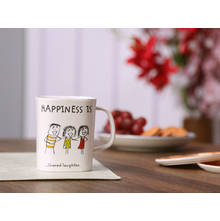 Happiness Modest Laughter Epic 250ML Mug, White