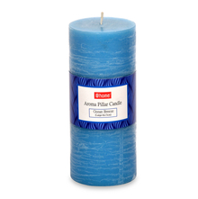 Jasmine Large Pillar Candle - @home by Nilkamal, Blue