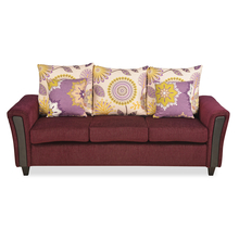 Springfeild 3 Seater Sofa - @home By Nilkamal, Red Wine