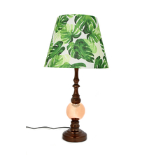 Monstera Leaf Table Lamp, Green