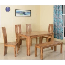 New Granada 1+ 4+ Bench Dining Kit, Natural Walnut