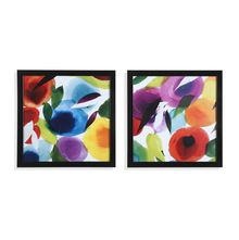 Abstract 32x 32 cm Painting Set of 2, Green