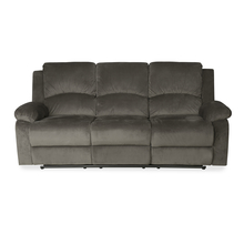 Luxury 3 Seater Sofa with 2 Manual Recliners - @home by Nilkamal, Coffee Brown