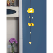 Mushroom Metal Windchime, Yellow