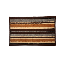 Glory Stripe 39 cm x 60 cm Doormat - @home by Nilkamal, Brown