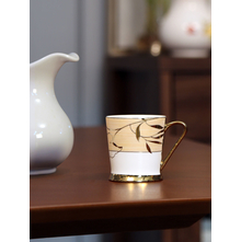 Ebony Peter 200 ml Coffee Mug, Beige & Gold