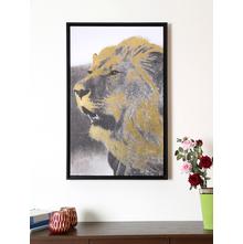Foil Lion Bold 50X80CM Picture Frame, Gold