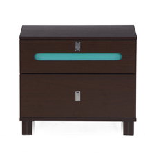 Valley Night Stand with 2 Drawers - @home by Nilkamal, Dark Walnut