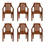Nilkamal CHR6020 Chair Set of 6 - Pear Wood