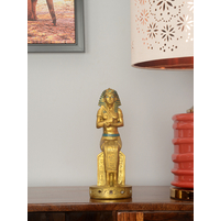 Pharaoh Sitting 12X10X26CM Showpiece, Gold