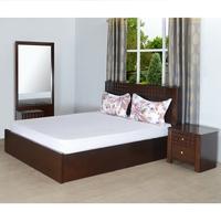 Rivera King Bedroom Set - @home by Nilkamal, Dark Walnut