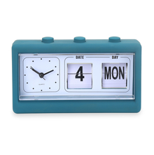 Table Alarm Clock with Date and Day - @home by Nilkamal, Indigo