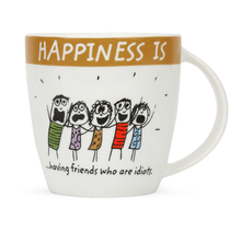 Hap 320ML Coffe Mug Having Friends, Brown