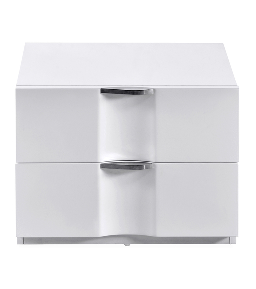 Scoop High Gloss Night Stand - @home By Nilkamal, White