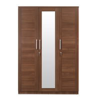 Sansa 3 Door Wardrobe - @home by Nilkamal, Walnut