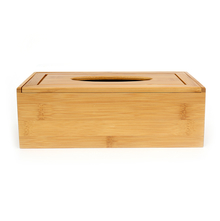 Rectangle Bamboo Tissue Box - @home by Nilkamal, Brown