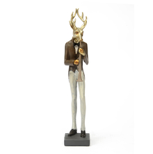 Clarinet Deer Showpiece - @home by Nilkamal, Gold