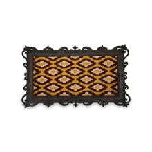 Diamond Tray Print 45 cm x 75 cm Doormat - @home by Nilkamal, Yellow