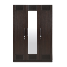 Emirates 3 Door Wardrobe - @home by Nilkamal, Dark Walnut