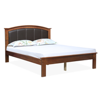 Morgan Queen Bed without Storage - @home by Nilkamal, Antique Cherry