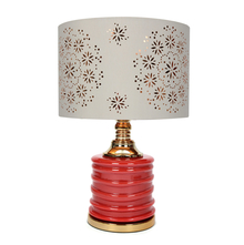 Cera Floral Table Lamp, Gold