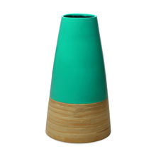 Spun Bamboo Small Vase - @home by Nilkamal, Sea Green